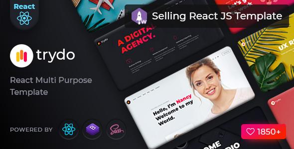 Trydo - React Creative Agency and React Portfolio Template