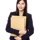 Young businesswoman hand hold with folder - PhotoDune Item for Sale