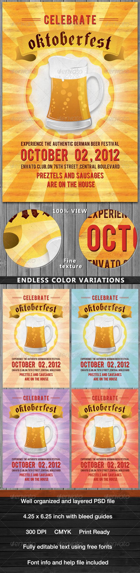 Oktoberfest Flyer - Flyers Print Templates