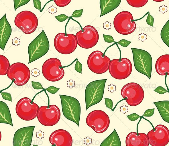 Cherry Seamless Background - Backgrounds Decorative