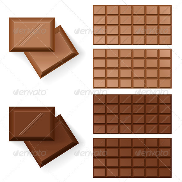 Chocolate bars  - Food Objects
