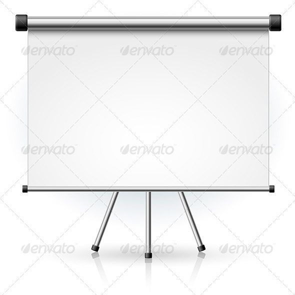 Blank portable projection screen - Man-made Objects Objects