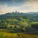 Panoramic view of chianti and vernaccia vineyards. San Gimignano. Tuscany, Italy - PhotoDune Item for Sale