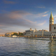 Venice landmark at dawn, Piazza San Marco with Campanile and Doge Palace. Italy - PhotoDune Item for Sale