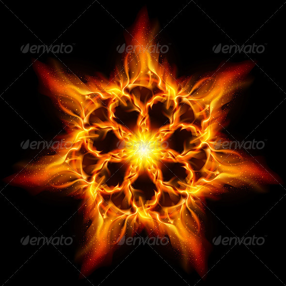 Fire flower - Abstract Conceptual