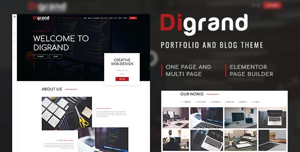 Exceptional Digrand - Portfolio And Blog Theme