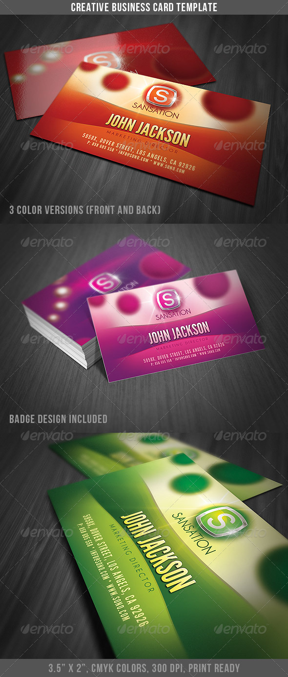 Creative Glamorous Business Card - Creative Business Cards