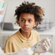 African-American Boy Ready for Vaccination - PhotoDune Item for Sale