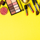 Makeup professional cosmetics on color background. - PhotoDune Item for Sale
