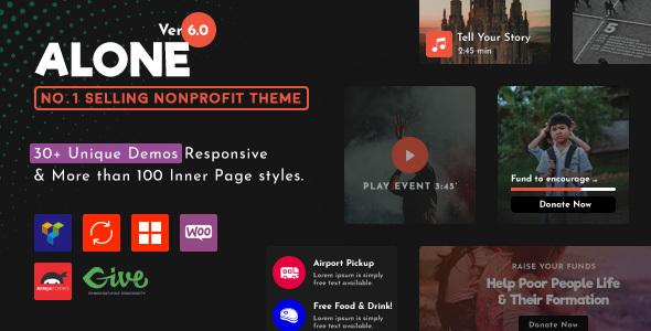 Alone Charity Multipurpose Non Profit Wordpress Theme By Bearsthemes