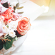 A large beautiful bouquet of mix flowers on a light background. - PhotoDune Item for Sale
