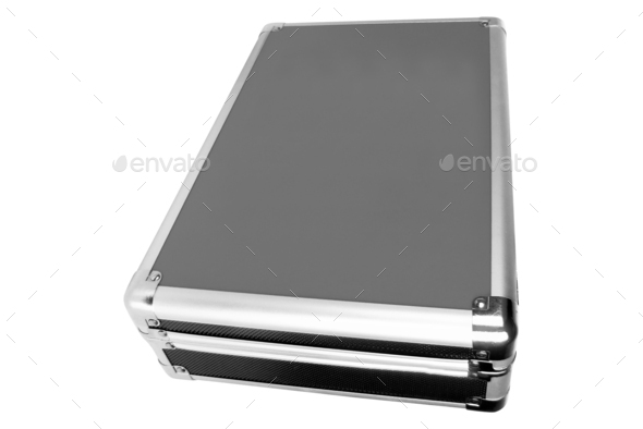 metal briefcase isolated - Stock Photo - Images