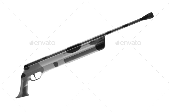 Rifle on a White background - Stock Photo - Images
