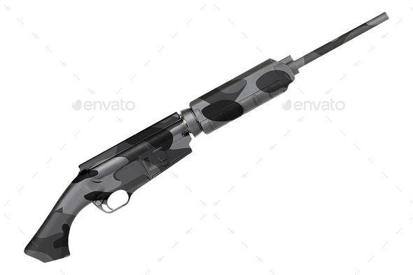 Rifle Isolated on White background - Stock Photo - Images