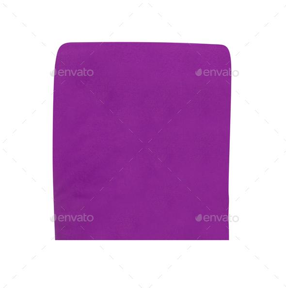 purple napkin isolated on white - Stock Photo - Images