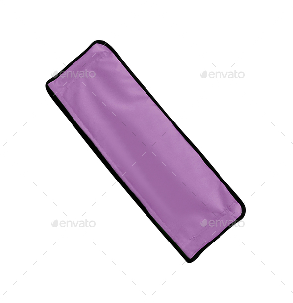 purple cloth isolated on white - Stock Photo - Images
