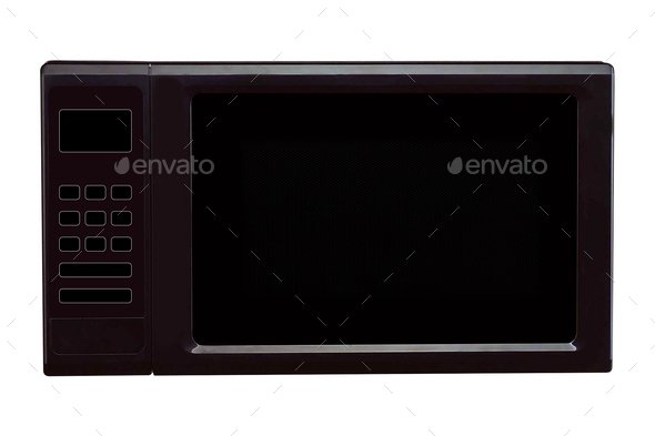 Microwave stove isolated on white background - Stock Photo - Images