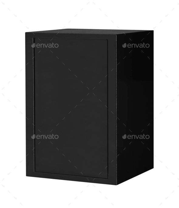 Metal box isolated on white - Stock Photo - Images