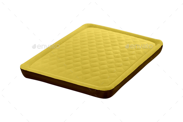 Air mattress isolated on white - Stock Photo - Images