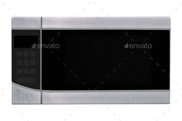 Microwave stove isolated on white - Stock Photo - Images