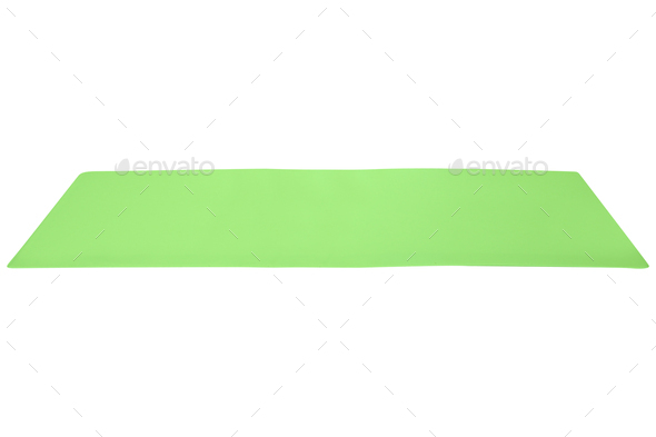 green cloth isolated on white - Stock Photo - Images