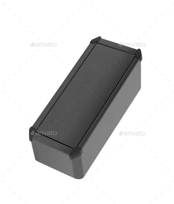 Metal box on a white background - Stock Photo - Images