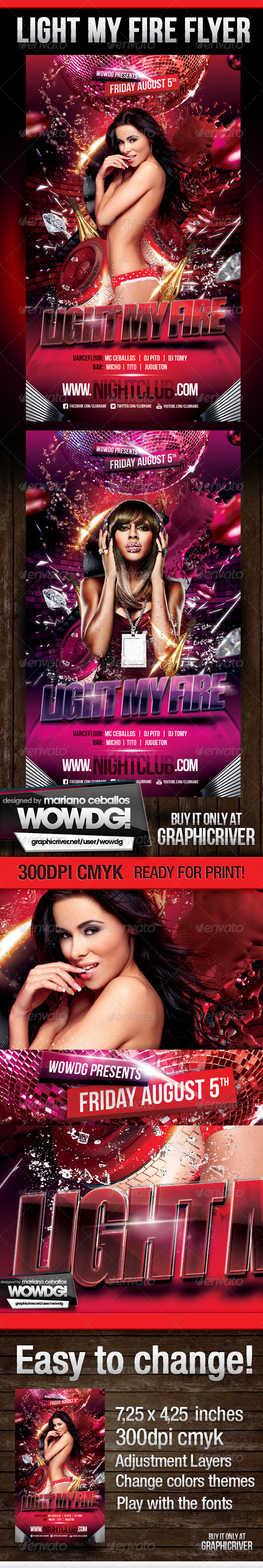 Light My Fire - Flyers Print Templates