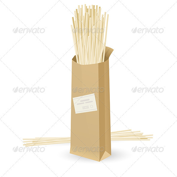 Realistic package spaghetti - Food Objects