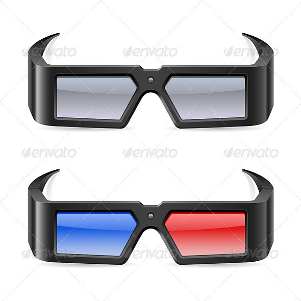 3d cinema glasses - Man-made Objects Objects