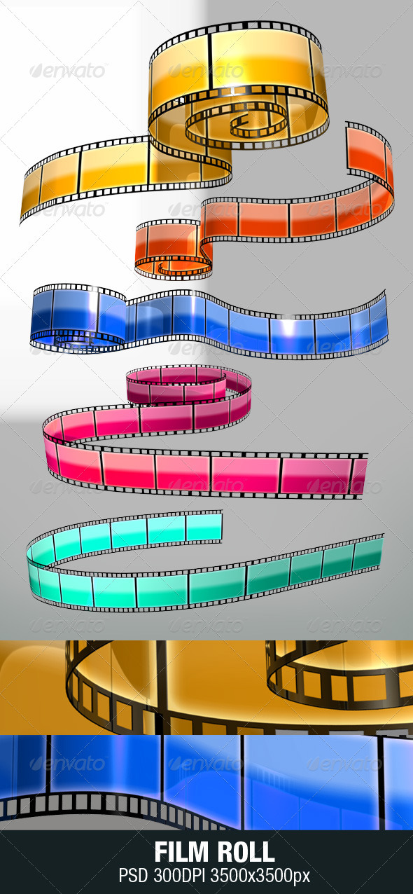 Film Stripe - Objects 3D Renders