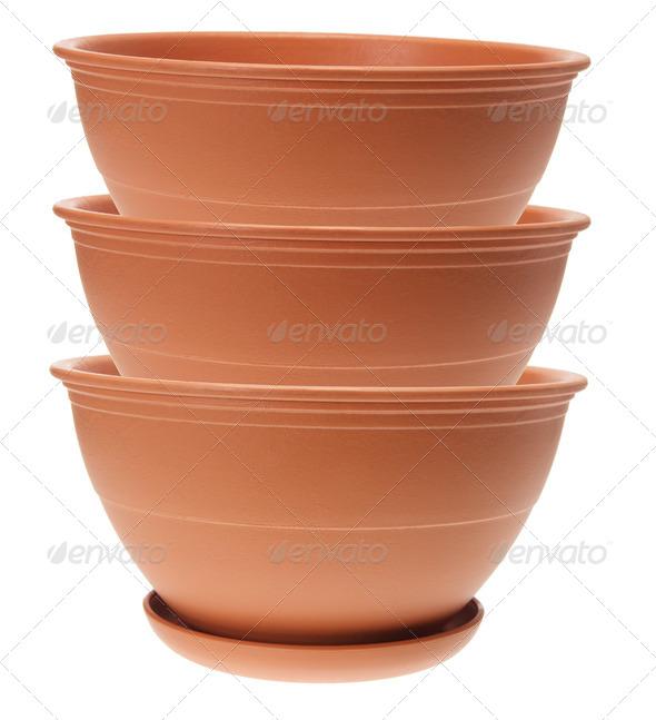 Flower Pots - Stock Photo - Images