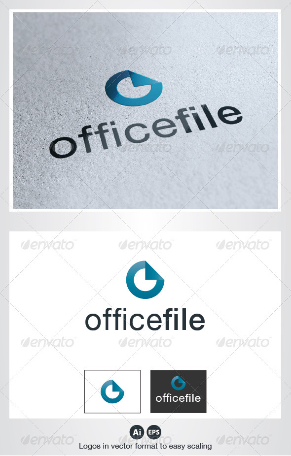 Office File O Letter Logo - Letters Logo Templates