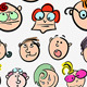 Cartoon Characters Set - GraphicRiver Item for Sale