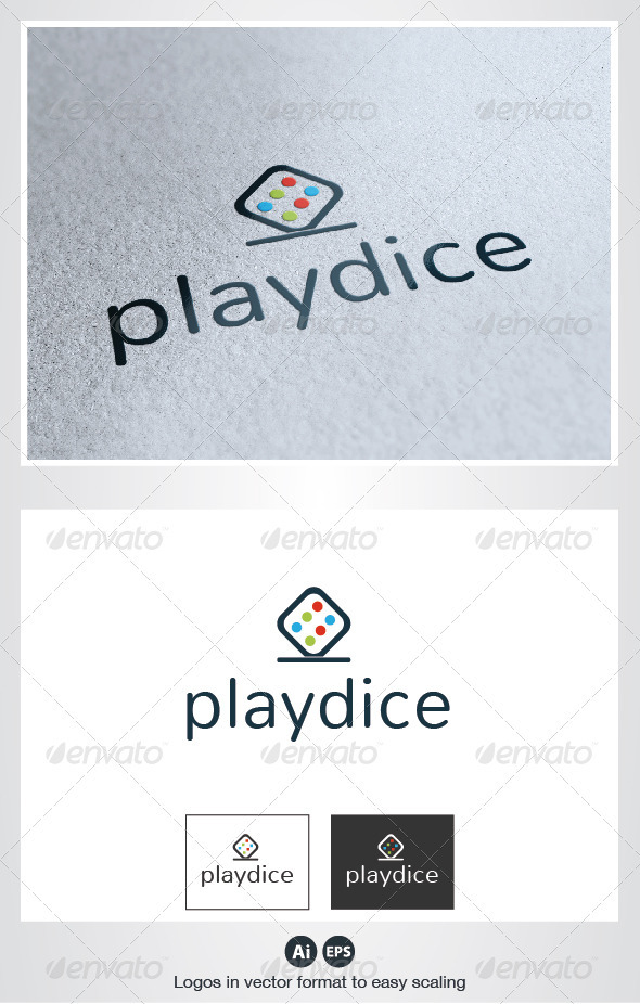 Play Dice Logo - Objects Logo Templates