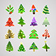 Christmas Trees Icons - GraphicRiver Item for Sale