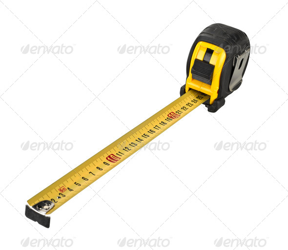 Professional tape measure isolated on white background - Stock Photo - Images
