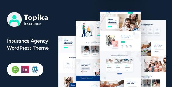 Marvelous Topika - Insurance Company WordPress Theme