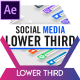 Modern Social Media Lower Thirds - VideoHive Item for Sale