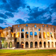 Colosseum or Coliseum in Rome at dusk, Italy - PhotoDune Item for Sale