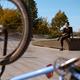 Male bmx rider poses in skatepark at the bike - PhotoDune Item for Sale