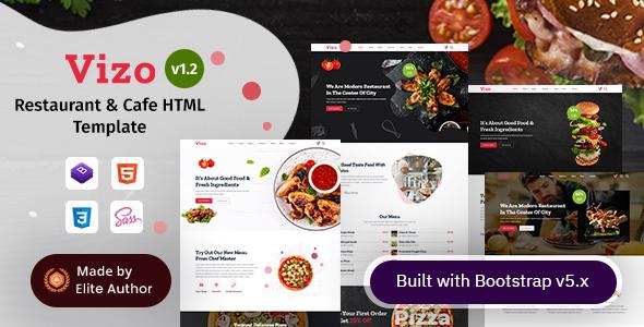 Vizo - Restaurant & Cafe HTML Template