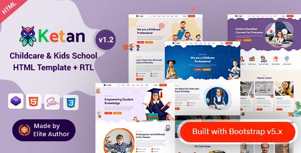 Ketan -Childcare&Kids SchoolHTMLTemplate