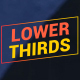 Gradient Lower Thirds || After Effects - VideoHive Item for Sale