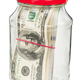 Pack of dollars in a glass jar - PhotoDune Item for Sale