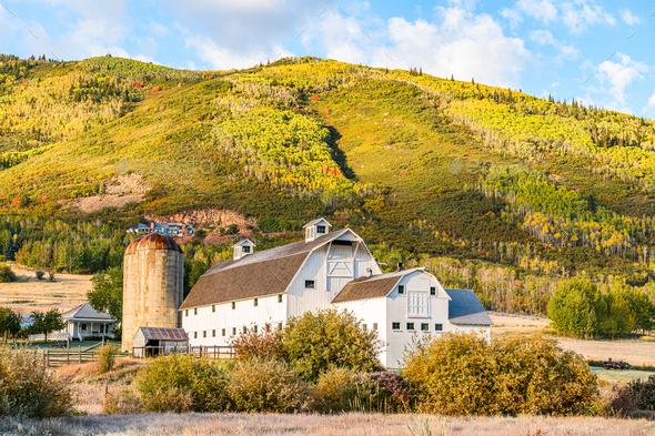 Park City, Utah, USA Farm - Stock Photo - Images