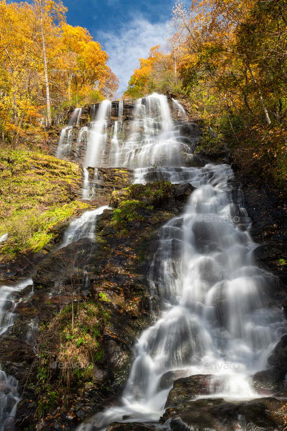 Amicalola Falls, Georgia, USA - Stock Photo - Images