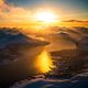 Aerial view of mountain landscape in winter season, Norway, Europe - PhotoDune Item for Sale