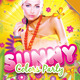 Sunny Colors Party Flyer - GraphicRiver Item for Sale