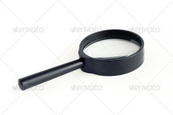 isolated magnifying glass - Stock Photo - Images
