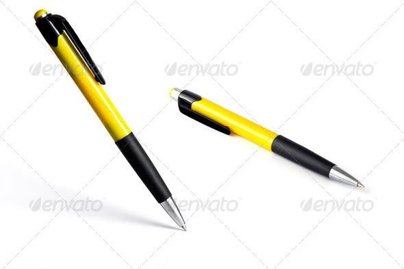 horizontal and standing pens - Stock Photo - Images